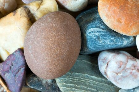 pebblestone: Detail of tthe pebble stone - shallow depth of field Stock Photo
