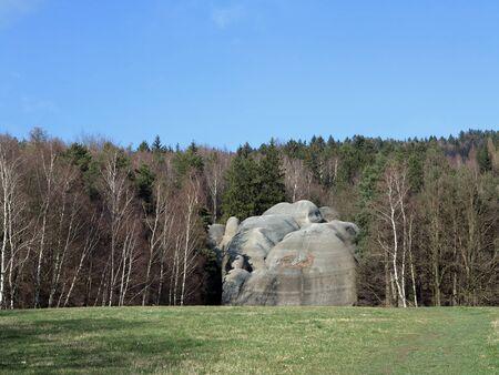 Interesting rock formation - Elephant Rocks - resembling a bathing elephants, Czech republic