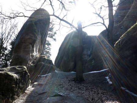 rock formation: Interesting rock formation - Elephant Rocks