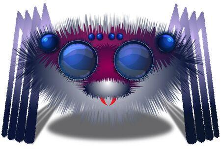 arachnid: Big hairy spider Stock Photo