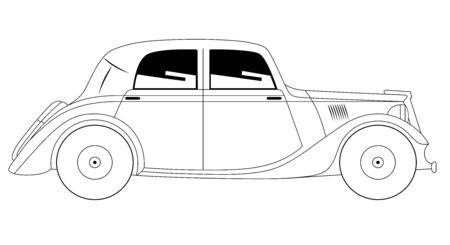 coupe: Vector illustration of the coupe - vintage model of car Illustration