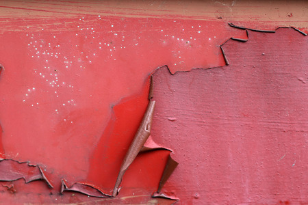 chippy: Flaking paint from the metal surface