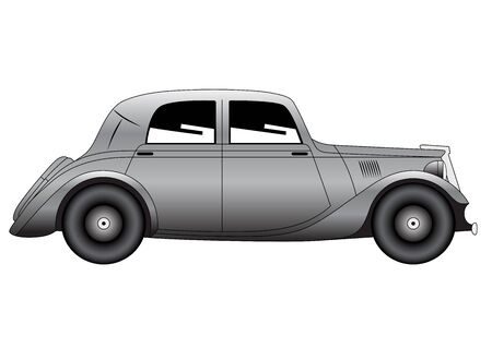 coupe: Illustration of the coupe - vintage model of car