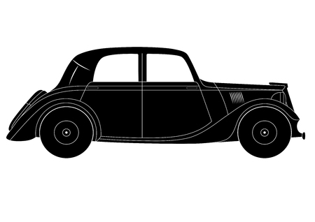 coupe: Coupe - vintage model of car Illustration