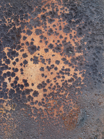 corroded: Corroded surface of the iron plate