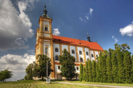 Pilgrimage Church of the Purification of the Virgin Mary - the most important monument of the village Dub nad Moravou. The monumental baroque building dating from 1736-1756 (the original Italian project built architect Francis Benedict Klicnik, after his