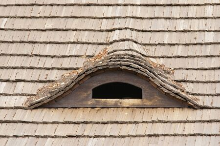 squint: Old reed roof and dormant - squint window