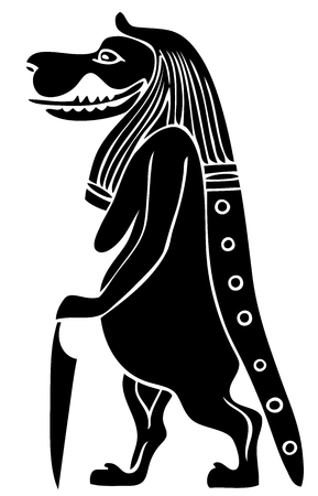 fertility goddess: Taweret - mythical creature of Ancient Egypt - Goddess of Fertility and Childbirth