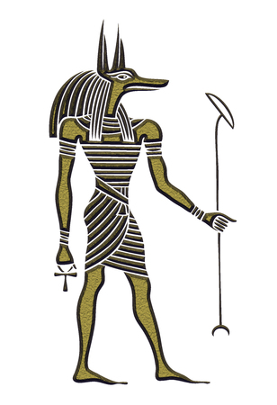 Anubis - God of ancient Egypt - God of funerals, death, the dead and the afterlife Stock Photo
