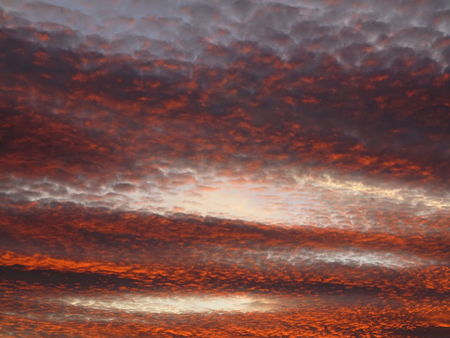 duskiness: Red sky at dusk - sunset colors Stock Photo