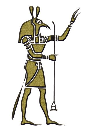 Set - God of Ancient Egypt - God of storms, desert, chaos and war Stock Photo