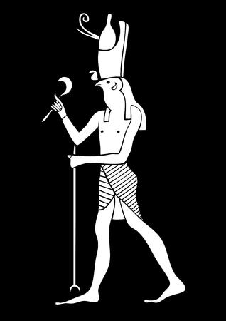 Horus - God of Ancient Egypt Illustration