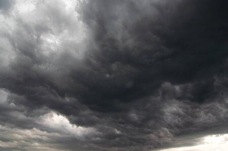 lurid: Dark storm clouds - before the rain