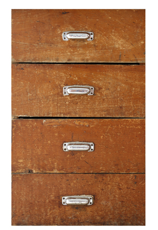 Old drawer isolated on white background 版權商用圖片