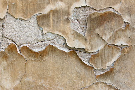 Abstract detail of the plaster bulges -  blistering