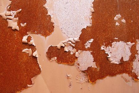 rusts: Detail of the cracked paint on rusty iron - grunge texture