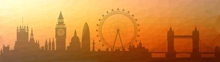 「三角パッチサーフェス」- ロンドンの街並みのイラスト