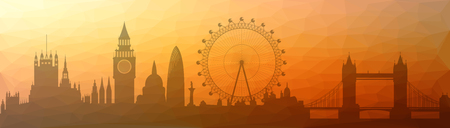 Illustration of the London skyline - triangulated Illustration