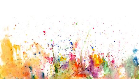 CLaboussures et taches sur papier blanc - aquarelle artistique fond - dessiné à la main Banque d'images - 91381124
