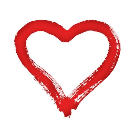 Herz - Symbol der Liebe - Aquarell auf dem Papier - lokalisiert Standard-Bild - 91466934