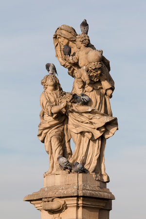 Statue of Saint Anne, Charles Bridge - this statue represents St. Anne, mother of the Virgin Mary, who is portrayed here as a young girl