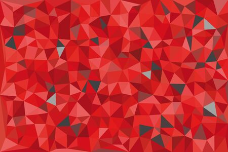 Red and gray triangular pattern, triangles mosaic. Vector illustration. Illustration