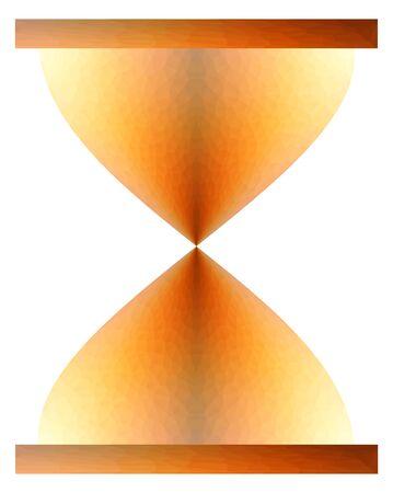Triangulated sand clock. Isolated on background illustration. Ilustrace
