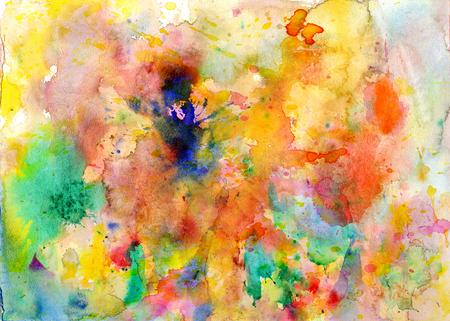 Splatters, splinter, blotches, blots and blobs of paint on paper