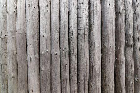 Wall from the wooden poles - detail