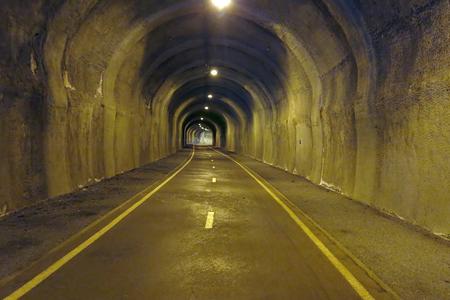 In the tunnel - underground way Stock Photo - 115157413