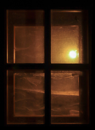 Shining window in the night