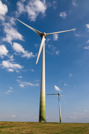 Image of the eco power, wind power plant - wind turbine - clean energy