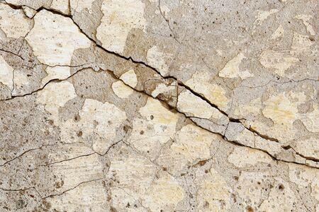 Détail des fissures dans l'ancien mur Banque d'images
