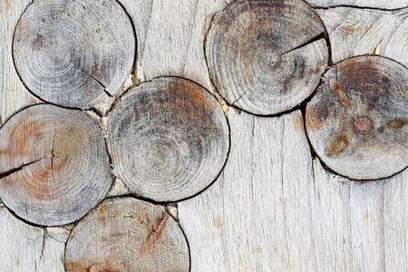 Detail of the wood texture with knots - knots in wood Stock Photo