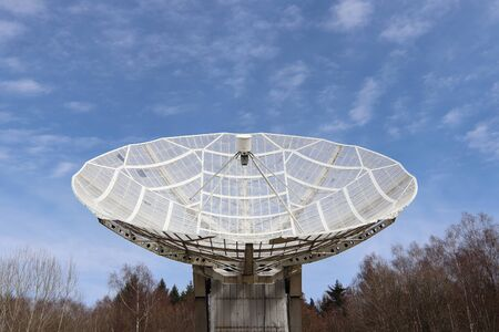 Radiotelescope - directional antenna used in radio astronomy to receive and collect data from satellites and space probes