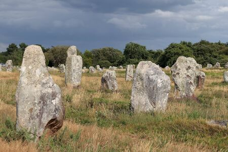 Alignements du Menec - rows of menhirs - standing stones - the largest megalithic site in the world