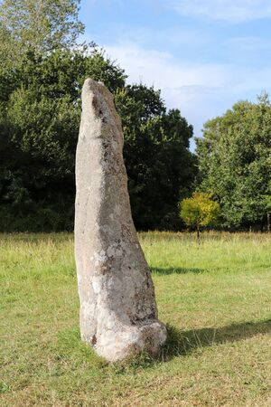 Menhir Saint-Samson in Pleumeur-Bodou in Brittany, France 版權商用圖片