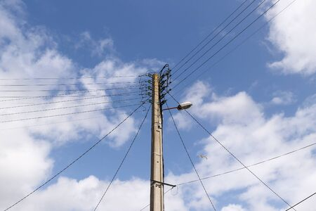 Detail of the power-transmission pole - electric power line