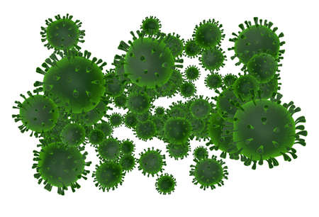 Cluster of dangerous viruses - 3D illustration