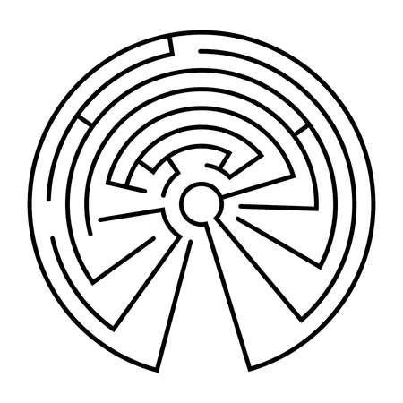 Maze in the shape of a circle - vector 向量圖像
