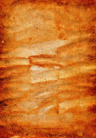 Heavily soiled sheet of rusty paper - dirty paper texture