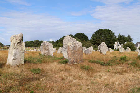 Alignments of Carnac - the largest megalithic site in the world, Carnac, Brittany, France