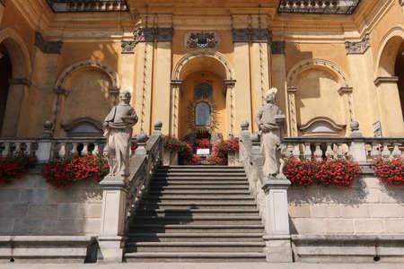Wambierzyce, Poland, August 8, 2018: Basilica of the Visitation - Baroque basilica minor