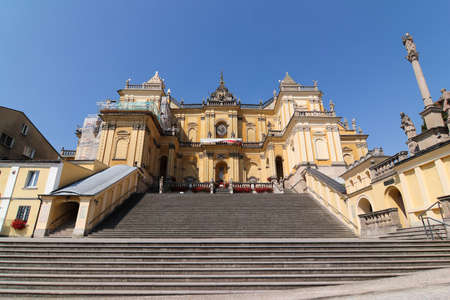 Wambierzyce, Poland, August 8, 2018: Basilica of the Visitation - Baroque basilica minor located in Wambierzyce, Poland. Editorial