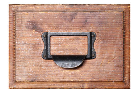 Old, used and damaged drawer isolated on background