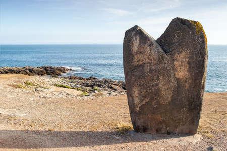 Menhir Beg Er Goalennec, Quiberon, department Morbihan in Brittany, France