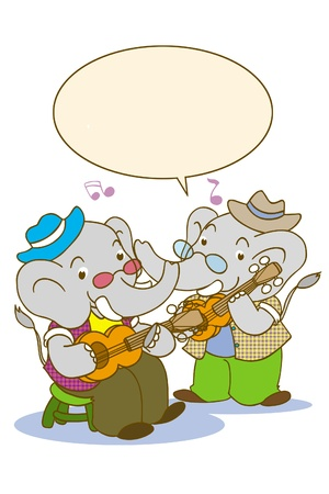 loveable: Elephant playing music and singing