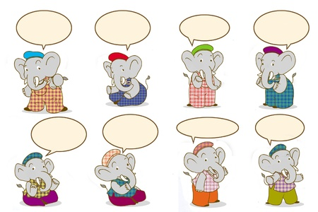 clarify: Cartoon elephant