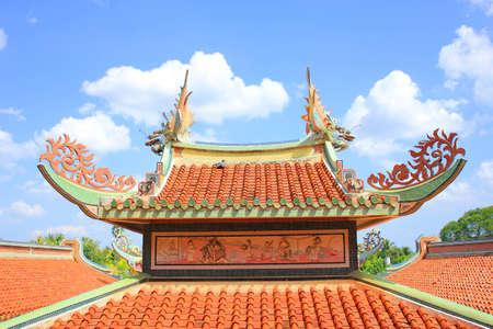 Chinese church roof Stock Photo
