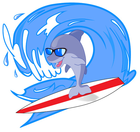 Delfino surfer on the waves